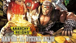 Anarchy Reigns - All Cutscenes Black Side/Red Side [ENG]