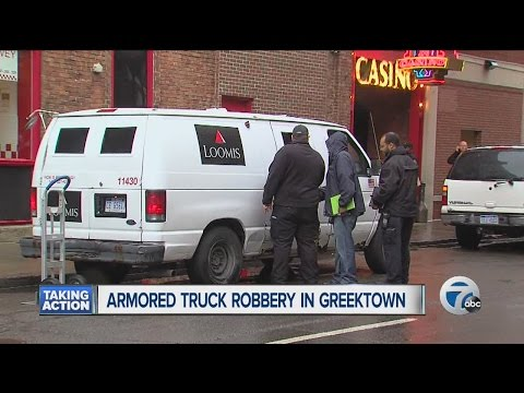 Man dressed as security guard steals money from armored vehicle outside Greektown Casino in Detroit