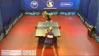 Настольный теннис матч 140718 16 Гудкова Елена Семина Ева 5-6 место