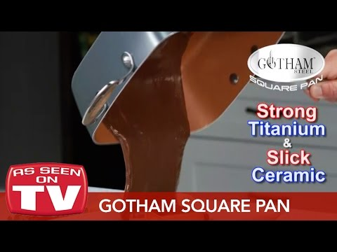 Gotham Steel Square Pan – Healthy Cooking With Non-Stick Ti-Ceramic Technology