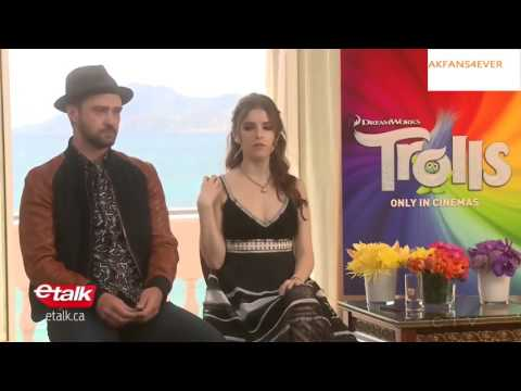 """Anna Kendrick & Justin Timberlake Talk About """"Can't Stop The Feeling""""-""""Trolls"""" Cannes 2016 Interview"""