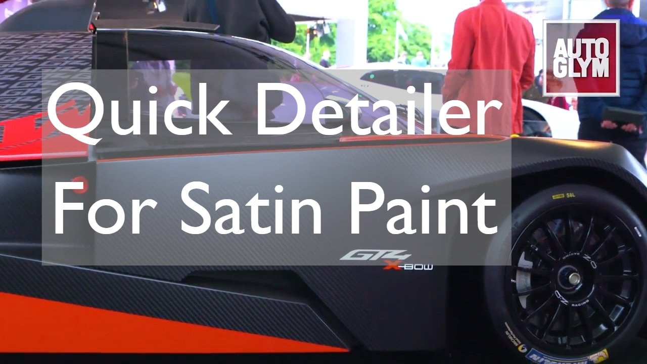 Caring For Matt And Satin Paint Finishes – Autoglym