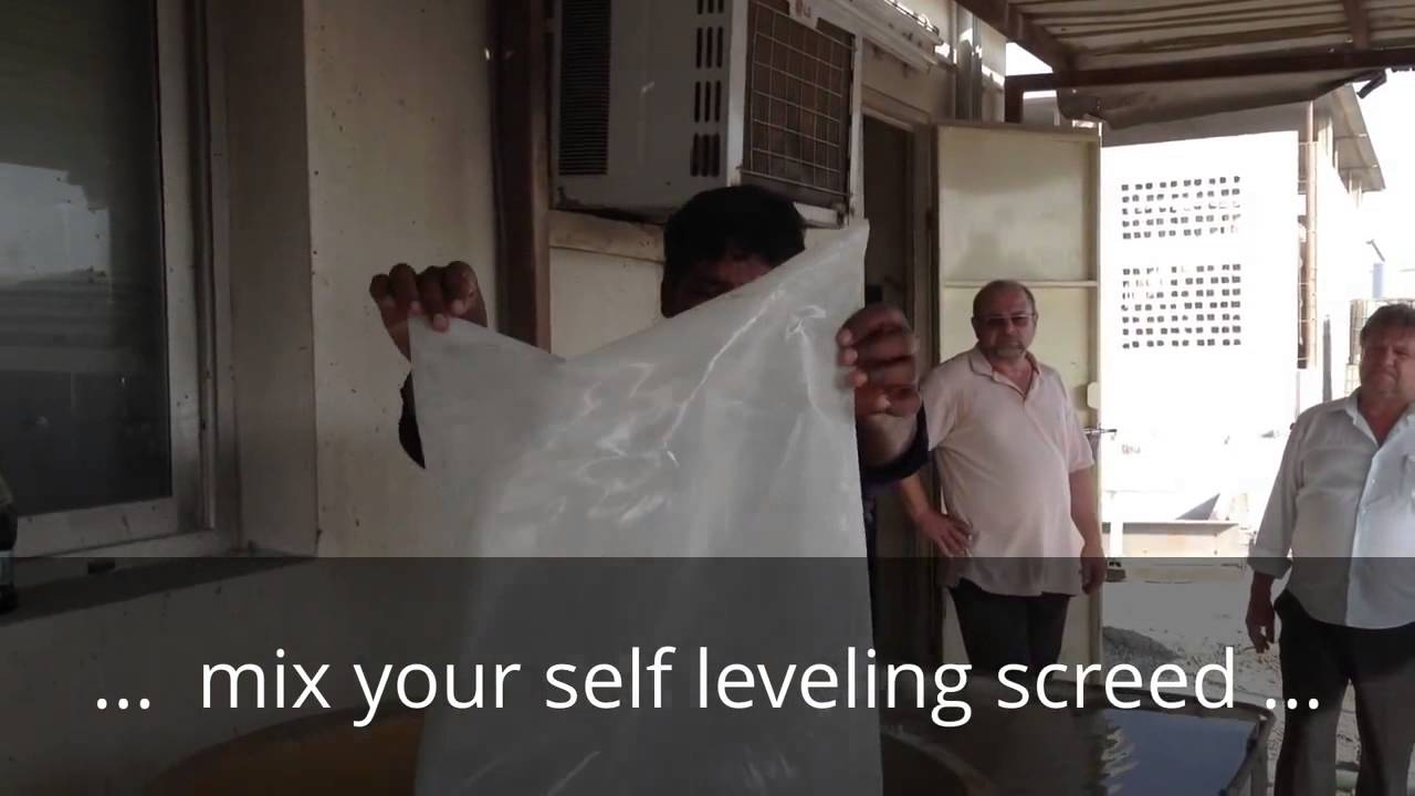how to make self leveling screed
