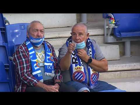 Calentamiento RCD Espanyol de Barcelona vs Deportivo Alavés