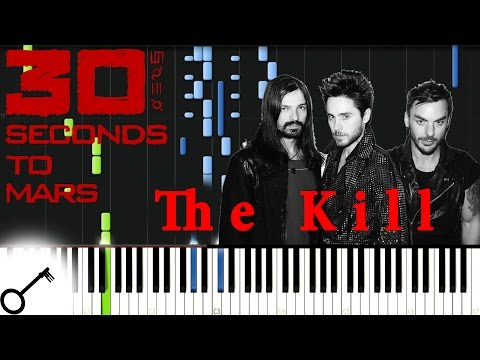 30 Seconds To Mars  The Kill Piano Tutorial Synthesia  passkeypiano