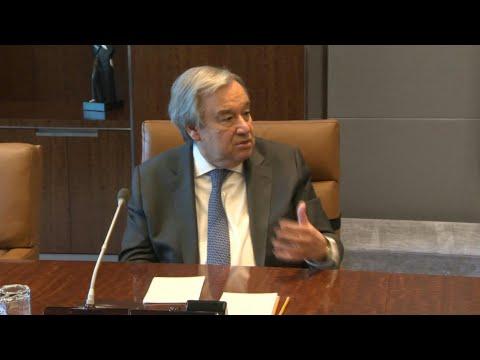 Coronavirus: le chef de l'ONU appelle tous les pays à
