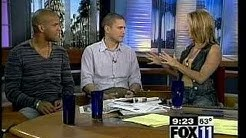 Wentworth Miller and Amaury Nolasco at Good Day LA