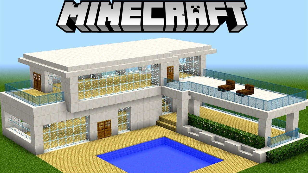 Minecraft tutorial como fazer uma casa moderna pica for Casas modernas grandes minecraft