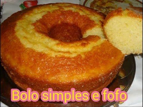 Receita de bolo caseiro fofinho e muito simples