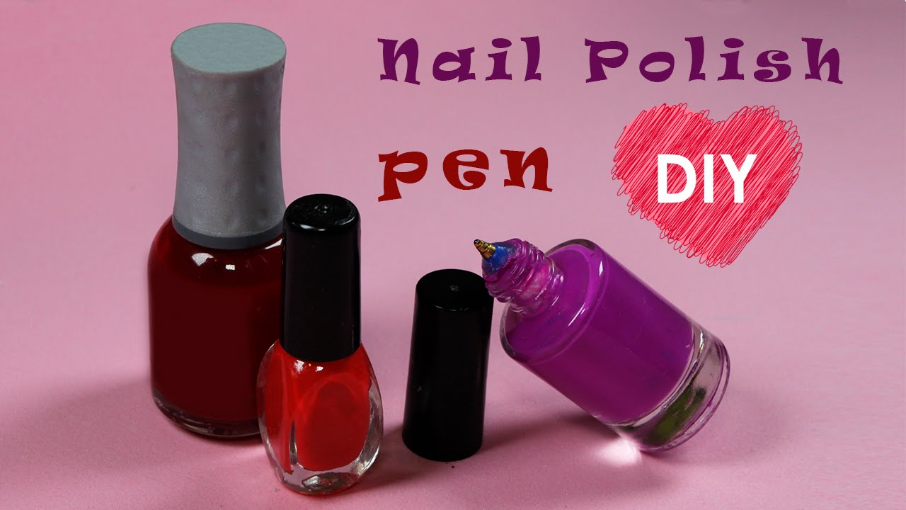 Back To School Easy Diy Pen Nail Polish Bottles Cool Craft Idea Mini Pen Diys Youtube