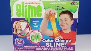 Renk Değiştiren Sihirli Slime Challenge Mor vs Turuncu Testing NICKELODEON SLIME DIY Bidünya Oyuncak