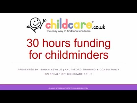 30 Hours Funding for Childminders Webinar