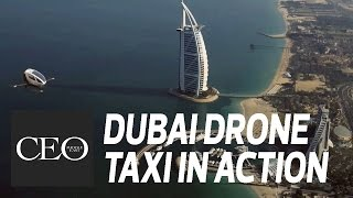 Dubai flying drone taxi in action – ehang 184