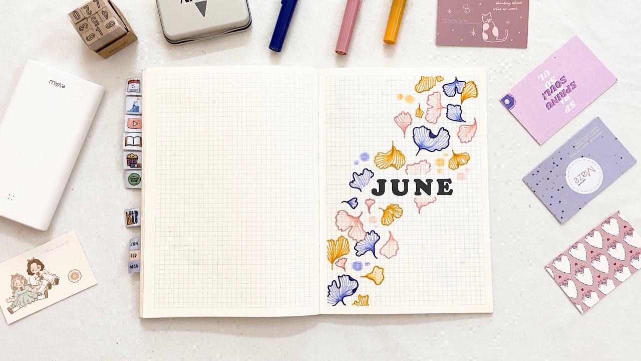 plan with me   làm bullet journal tháng 6/2021   2021 june bullet journal setup for beginners