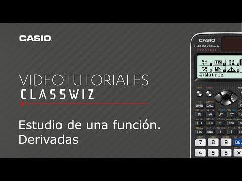 Calculadora CASIO ClassWiz: Estudio de una función. Derivadas | Tutorial