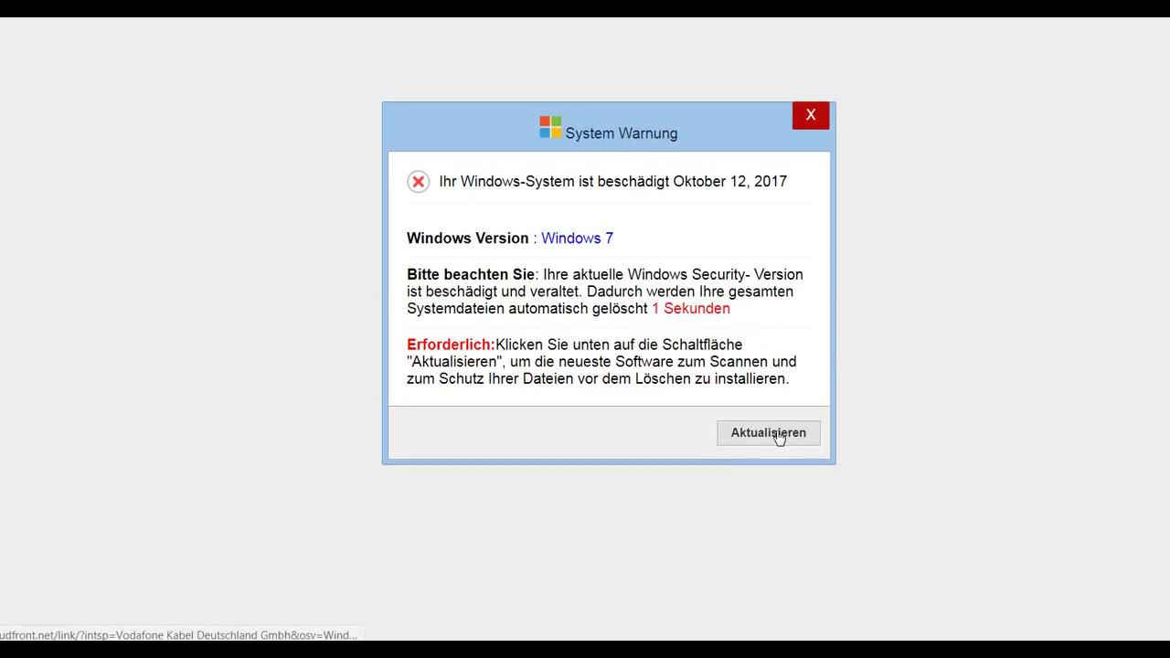 System Warnung Ihr Windows-System Ist Beschädigt