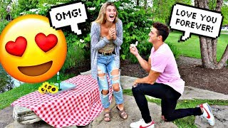 SURPRISING MY GIRLFRIEND WITH A RING!!