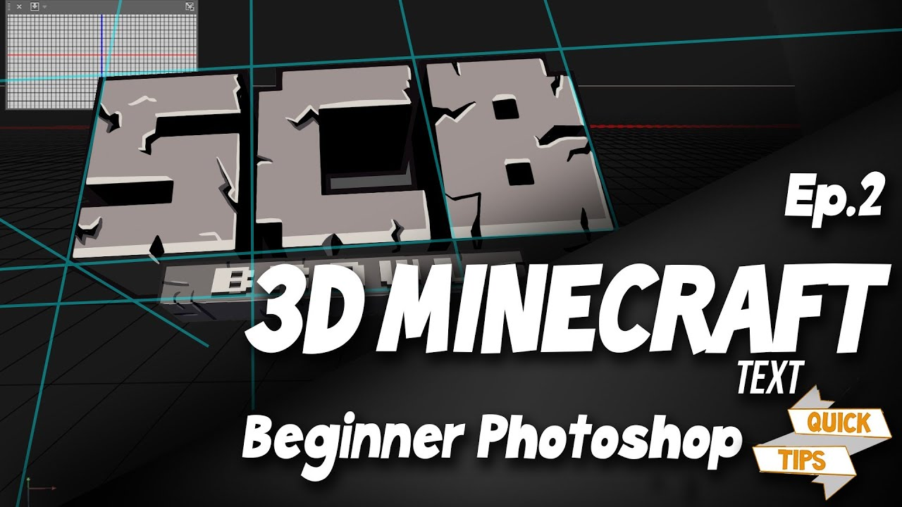 Quick Tips EP2: How To Make 3D Minecraft Text