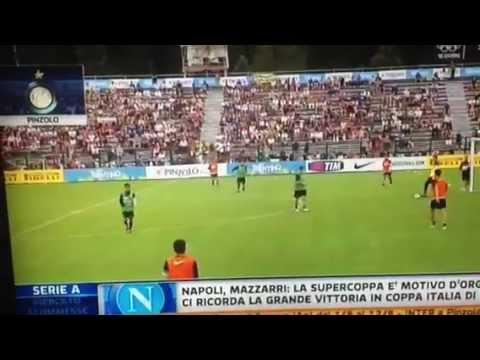 Seduta mattutina – Ritiro Inter Pinzolo 2012 – 11/07/12 Servizio SKY SPORT