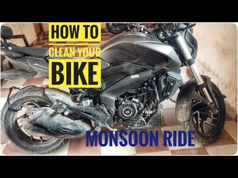 How to Clean your Bike after Monsoon Ride | Chain Sprocket Cleaning | Engine Bay Cleaning