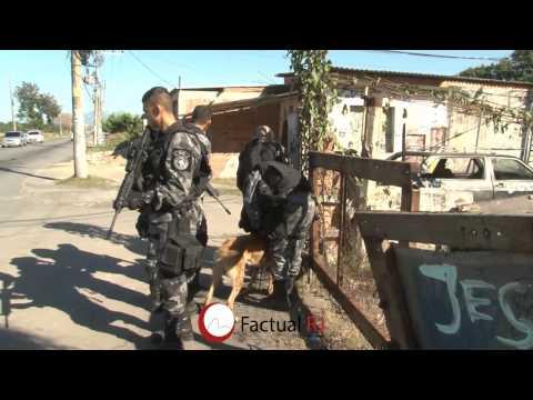 Policias do Bope,Choque e Bac realizaram operação em Santa Cruz