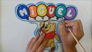 Manualidad en Goma Eva. Letrero Winnie de Pooh