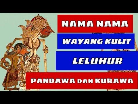 100 gambar wayang kulit arjuna pandawa semar Nama Nama Wayang Kulit Jawa Leluhur Pandawa Dan Kurawa Youtube