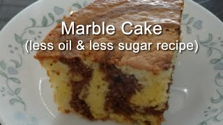Marble Cake (less Oil And Less Sugar Recipe)