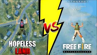 Free Fire Battleground VS Hopeless Land Comparison. Which one is best?
