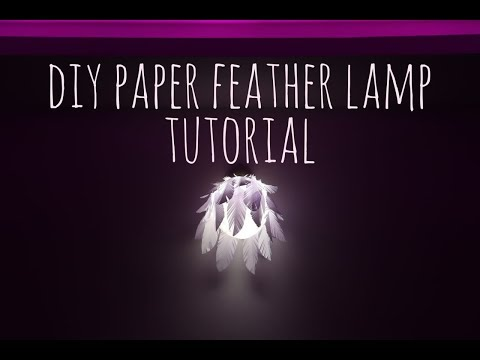 DIY paper feather lamp | Easy paper feather lampshade tutorial | Niyoti Dubey
