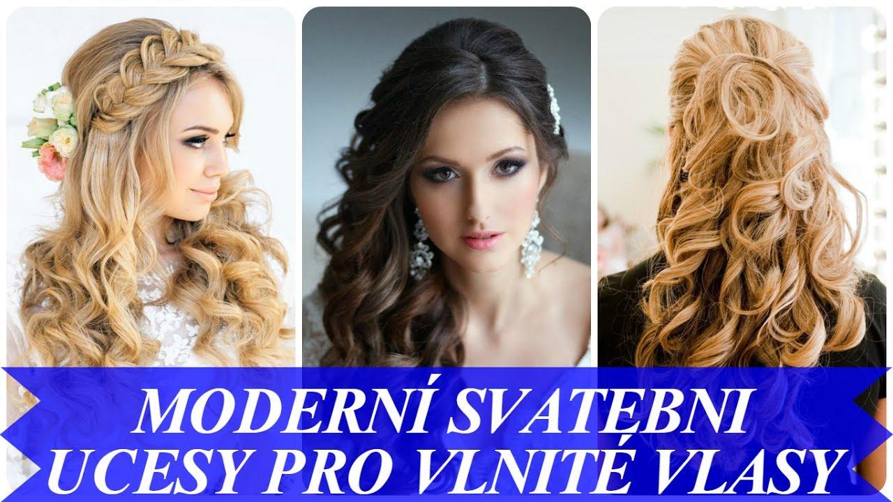 83a929f28d67 Moderní svatebni ucesy pro vlnité vlasy - YouTube