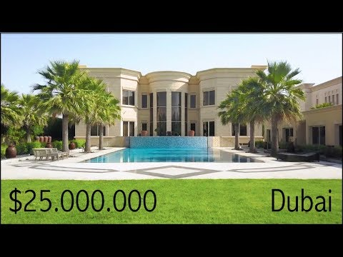 $25 Million Dubai Mega Mansion - Emirates Hills Villa