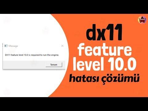 Pubg Lite dx11 feature level 10.0 is required to run the engine hatası çözümü  Pubg lite dx11 hatası