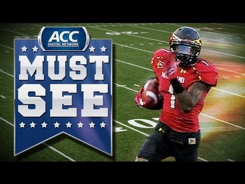 Maryland's Stefon Diggs Explosive Run Afte...