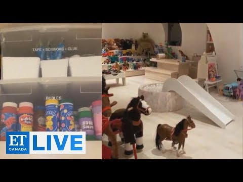 Kim Kardashian West Gives Tour Of Kids' Playroom | ET Canada LIVE