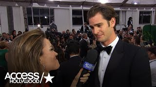 Golden Globes: Andrew Garfield Explains Why Ex Emma Stone Is His Desert Island Pick | AccessHollywood