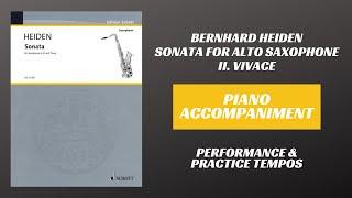 Bernhard Heiden – Sonata for Alto Saxophone, mvt. II (Piano Accompaniment)