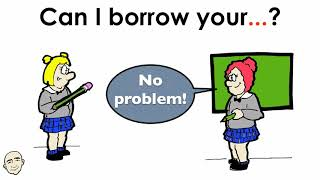 School Supplies - Can I Borrow Your...? | English Speaking Practice For Communication | ESL