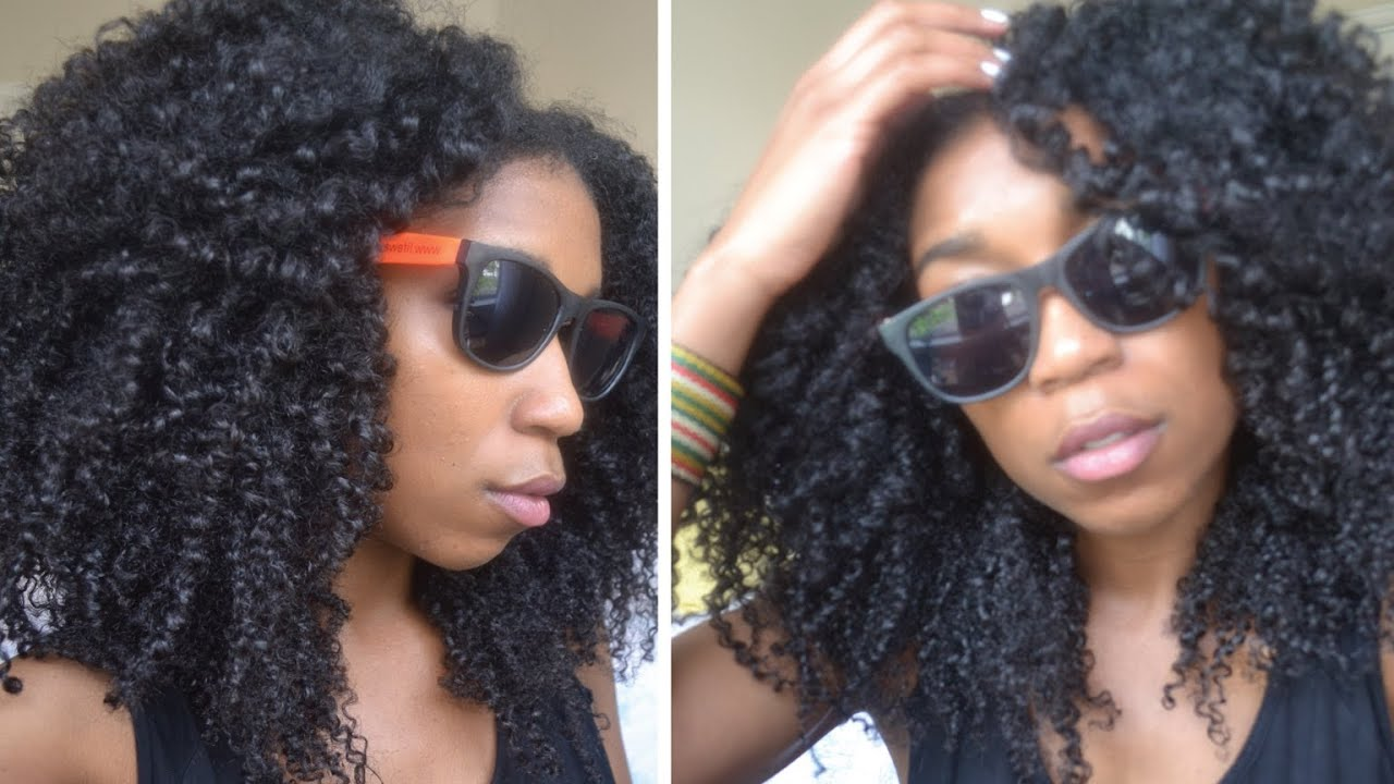 no fuss quick summer beach curls! natural hair