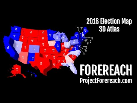 Project Forereach - 2016 U.S. Presidential Election, 3D Atlas