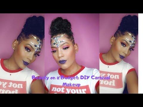 Beauty on a budget : DIY Carnival Makeup ( Tonisha Kong ) talented Jamaican