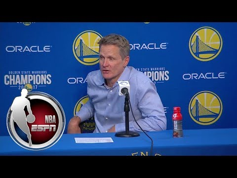 Steve Kerr explains what he likes about Lonzo Ball's game   NBA on ESPN