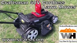 How much can it now Craftsman 40V Lawn Mower Cover On One Battery | Weekend Handyman