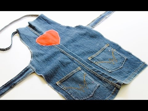 Easy sewing activity: How to make an upcycled denim apron