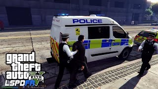 POLICE VAN LOCKING UP CRIMINALS  - GTA 5 LSPDFR - The British way #119
