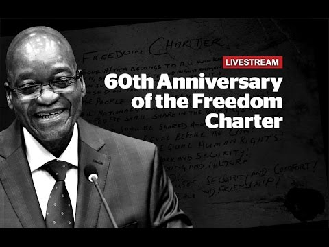 President Zuma speaks at the 60th anniversary of the Freedom Charter