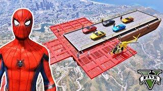 Desafio com CARROS na Mega Rampa! Salto de Carros com Paraquedas - Episódio #35 - GTA V - IR GAMES