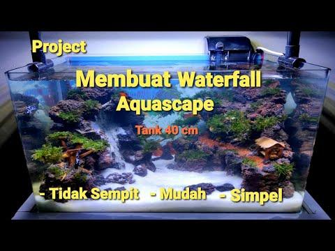 membuat-waterfall-aquascape