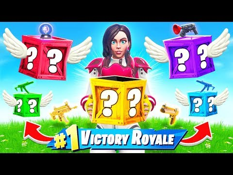 *FLYING* LUCKY BLOCKS Choose Your LOOT Challenge in Fortnite