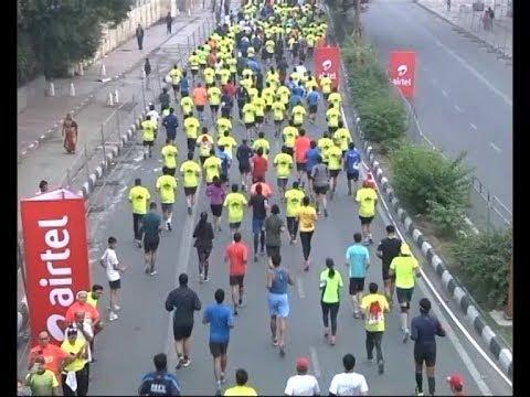 Delhi Half Marathon flagged off by Sports Minister Rajyavardhan Singh Rathore